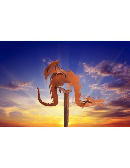 Magic Dragon inkl. Holzbalken Gr. 2, Rost