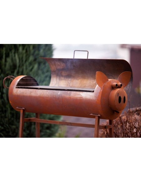 "Schweinchengrill""Michael"" inkl. Grillrost, Rost"