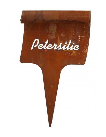 Beetstecker Petersilie - Edelrost Kräuterstecker