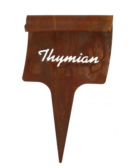 Beetecker Thymian - Edelrost Kräuterstecker