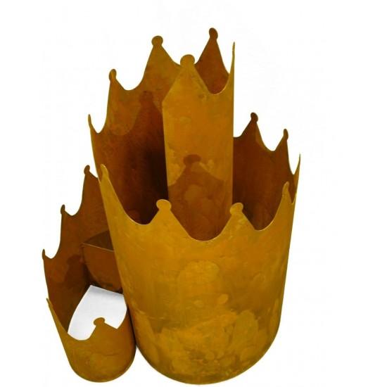 Kräuterschnecke Metall stabil kein Cortenstahl sondern Edelrost