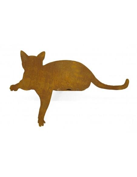 Rost Katze für Kanten Pfote nach unten Kantenhocker Mieze
