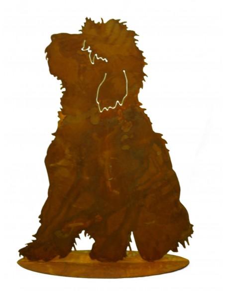 """Hund """"Bobby"""" auf Platte"""