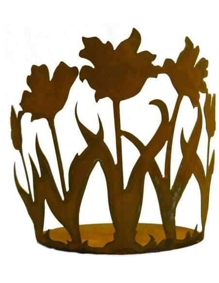 Tulpenbeet an ovaler Platte