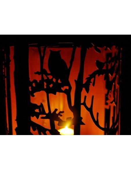 Wild Windlicht mit Waldszene Ø 27 cm
