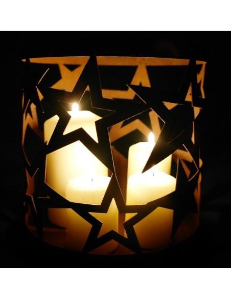 Sternenwindlicht 18 x 20 cm Edelrost