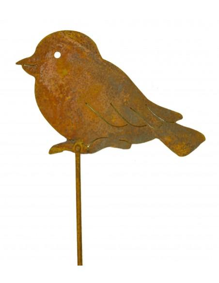 Vogel aus Metall auf Stab 1m