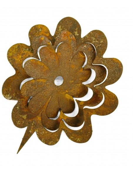 Frühlingsdeko Metallsatz - Blume - für Holzstamm 13 cm Metallsatz bestehend aus 1x Blume zum einschlagen. Gesamthöhe Blume Ø13cm