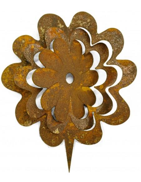 Blume Metall zum einschlagen in Holz Balken Pfosten Gartenzaun dekorieren