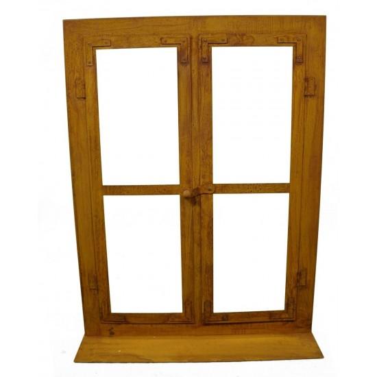 Deko Fenster aus Edelrost  80 x 60 cm