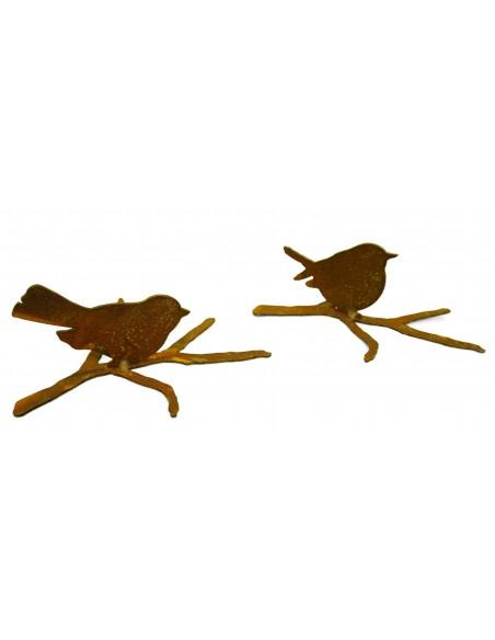 Vögelchen auf Ast 2er Set