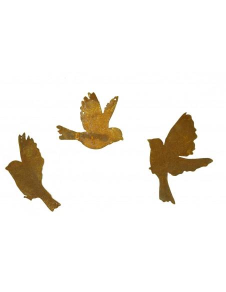 3er Set fliegende Vögel zwischen 15 und 20cm z. Aufhängen
