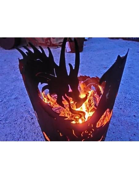 Drachenfeuerschale Groß 75 cm hoch D: 50 cm