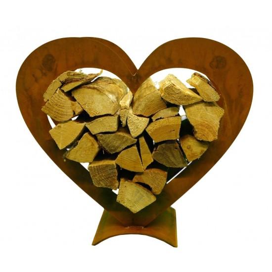 Kaminholzregal Herz als tolle Geschenkidee für Verliebte