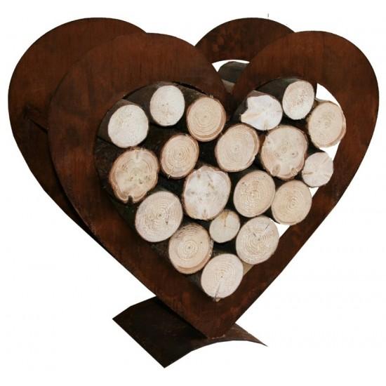 Herz-Holzregal groß  95 cm hoch