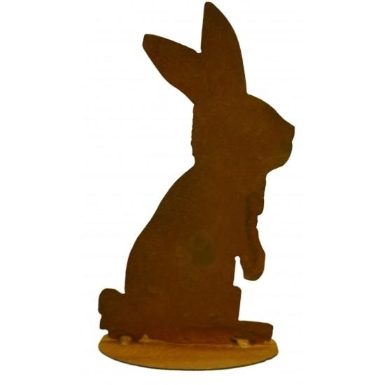 küssender Hase B,Ohren aufgerichtet, auf Platte