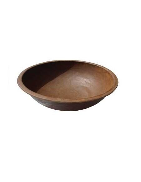 Runde Rostschale mit Rand klein 52 cm Durchmesser