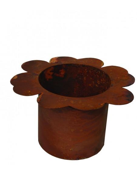 Rostiger Blumentopf Marla Edelrost Topf in Blumenform