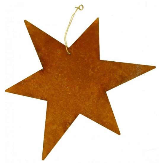 großer Rost Stern Ø 50 cm zum Aufhängen