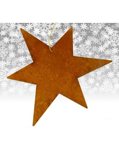großer Edelrost Stern Ø 50 cm zum Aufhängen