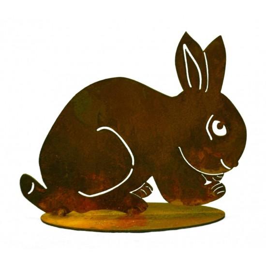 Kaninchen geduckt groß