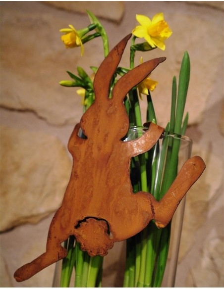 """Rost Häschen """"Bunny"""" kletternd, zum Einhängen 25 cm hoch"""