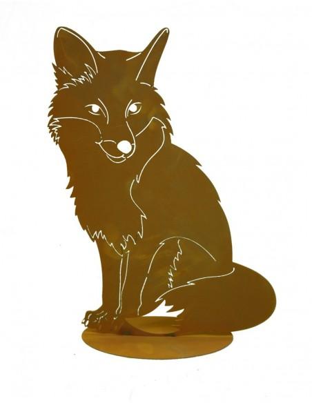 Rost Fuchs sitzend auf Platte
