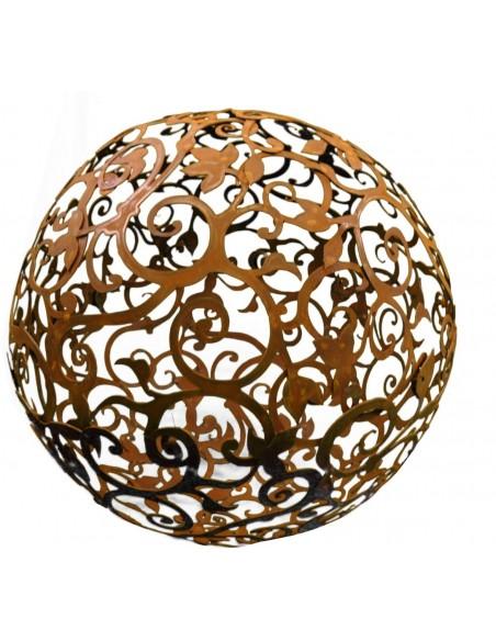 Barockkugel 80 cm aus Metall Edelrostkugel Rostkugel
