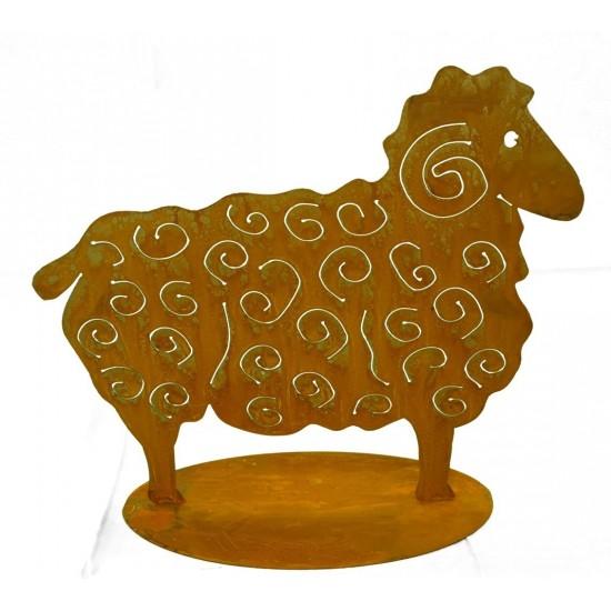 Deko Schaf aus Metall zur Gartendeko Landhaus