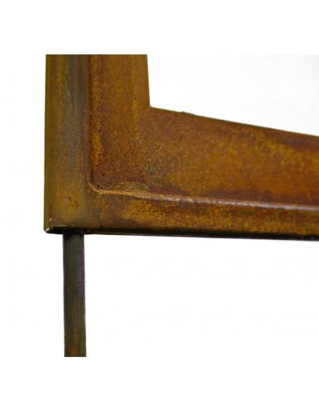 Befestigung Paravent mit Eisenstange