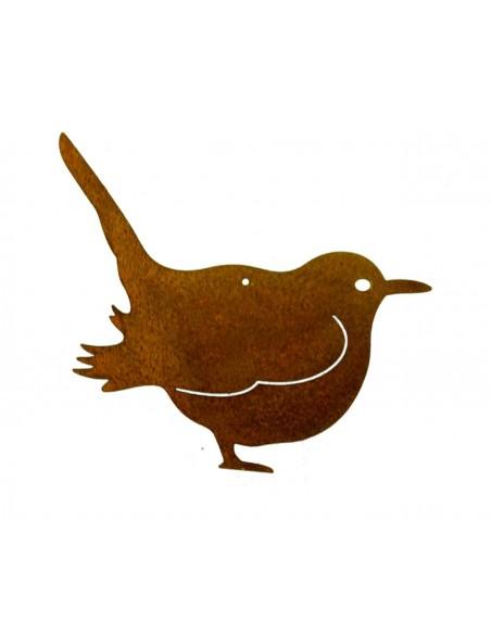 Rost Vogel / Spatz zum Hängen - Edelrost Vögelchen für den Garten Terasse oder Balkon