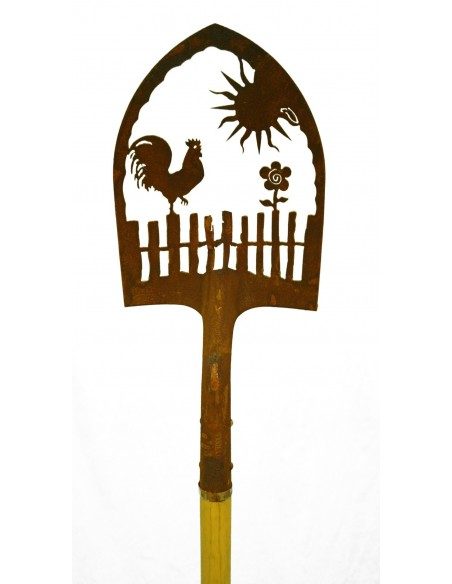Edelrost Deko Schaufel Motiv Kolibri