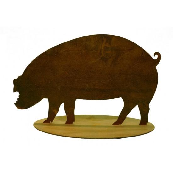 kleine Rost Hausschwein 18 cm hoch