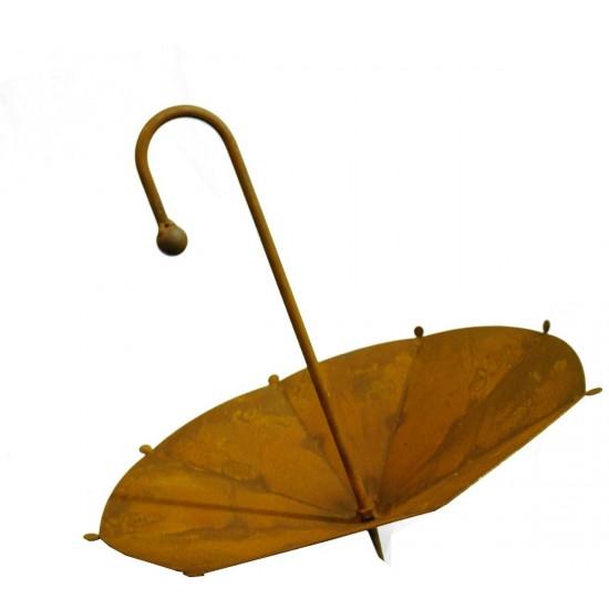 Rostiger Schirm klein zum Bepflanzen