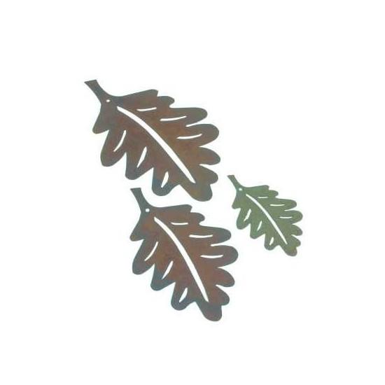 3 tlg. Eichenblattkette Rostige Dekokette Blätter Eiche