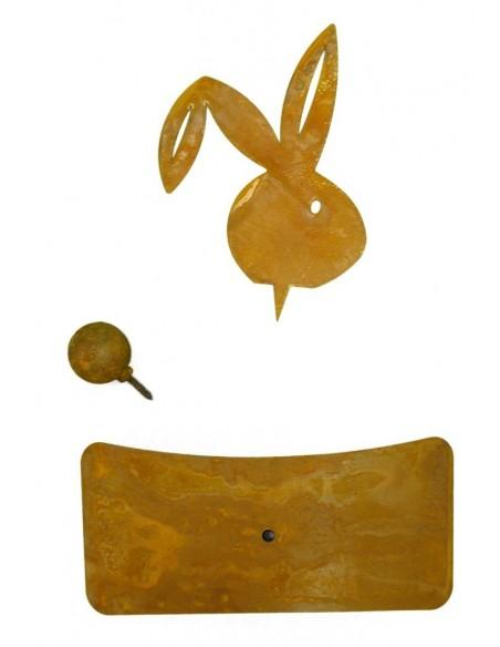 Hasenkopf Metall für Holzstamm