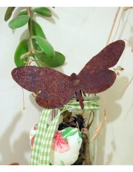 Rost Schmetterling für Vasen oder Blumentopf zum einhängen
