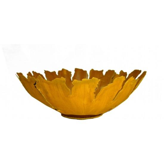 Rost Schale mit Rissen auf Platte 35 cm Durchmesser