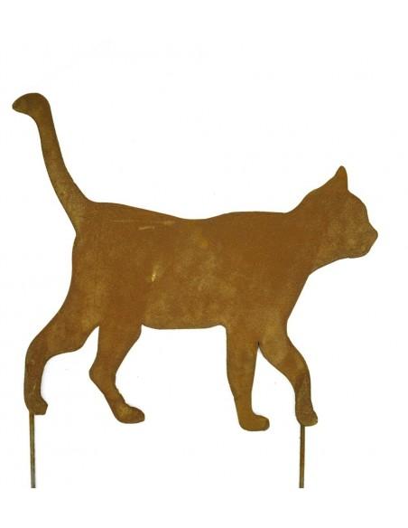 Katze 3, gehend zum Stecken
