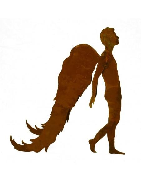"Edelrost Engel ""Raphael"" 40 cm hoch"