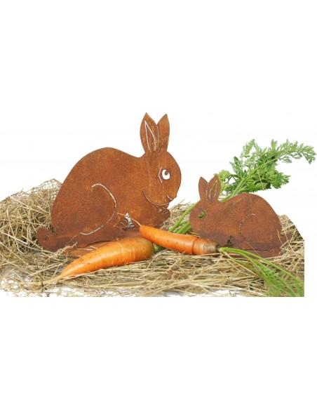 Kaninchen geduckt groß Rost Hase