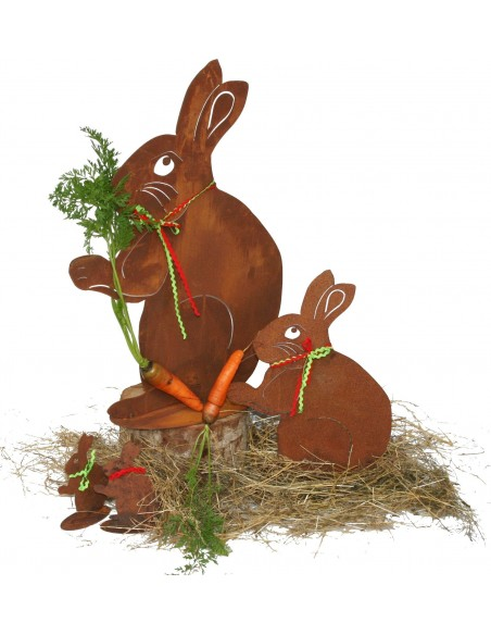 Rost Hase Lindi groß 60 cm