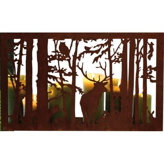 """Waldszene """"Wilder Wald"""" rechteckig 50 x 35 cm"""