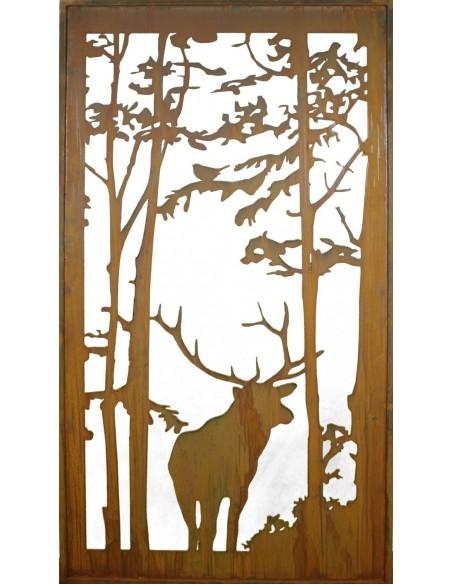 """Wild Paravent """"Hirsch"""" 200 x 90 cm"""