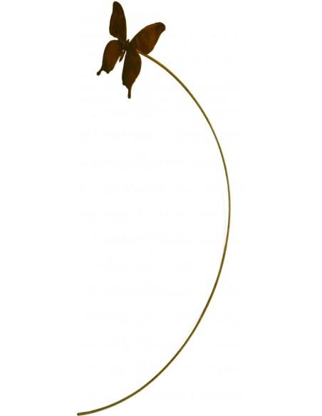 """""""Papilio"""" rost Schmetterling auf 80 cm langem biegsamen Draht Edelrost Gartendeko Blumenstecker"""