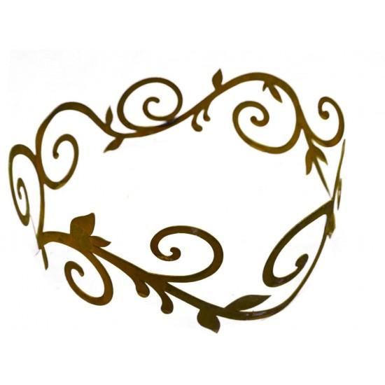 flacher rost Ornamentring 30 cm für Vasen / Windlichter / Schalen