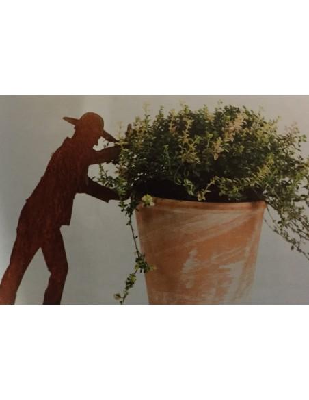 """Edelrst Gärtner """"Heinz"""" Pflanzenhalter mit SDpieß zum stecken"""