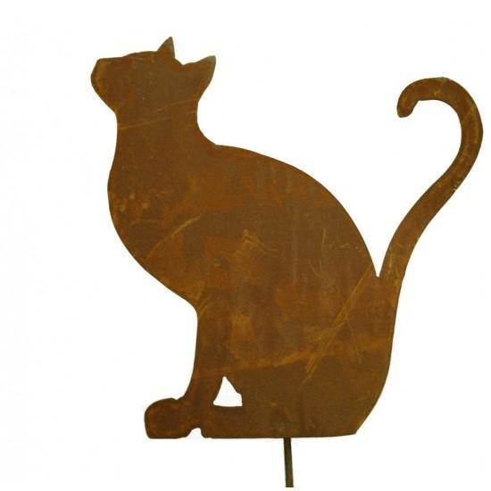 Stecker Katze sitzend - bilden ein Herz