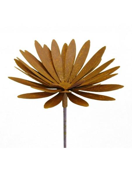 Edelrost Chrysantheme Ø 25 cm auf 100 cm Stab