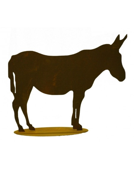 Edelrost Esel 30 x 37 cm